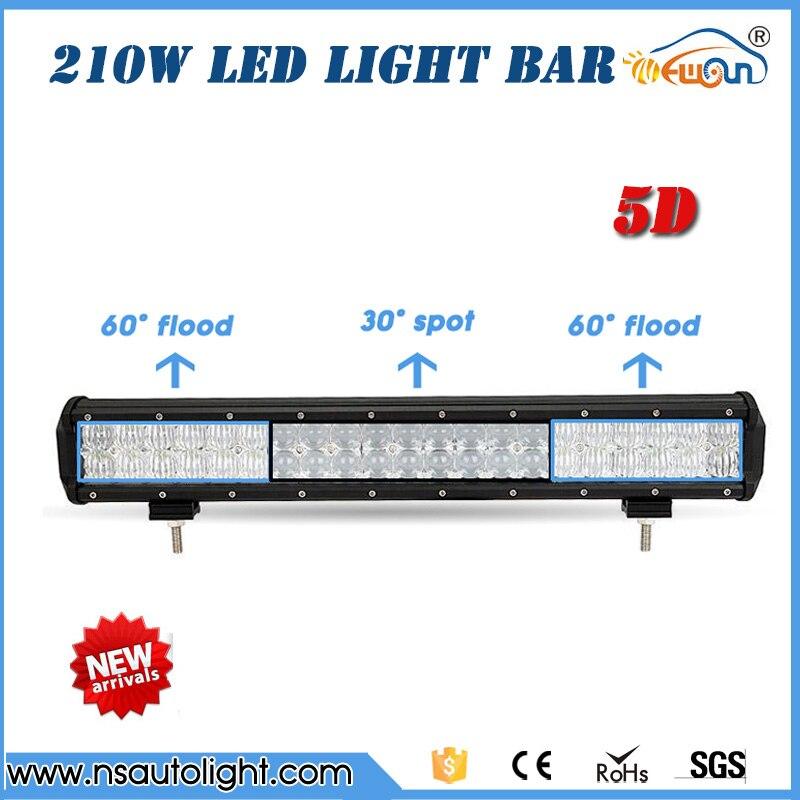 210W 5D LED Light Bar 4X4 Offroad Led Work Light Bar straight combo beam  Roof Offroad SUV ATV UTV 20inch led working light<br><br>Aliexpress