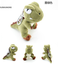 HOT Kawaii 10CM height approx. Dinosaur TOY , Dragon Plush Stuffed Toy , With delicate key chain ring(China)