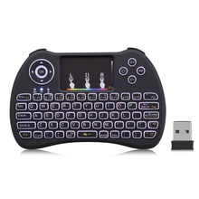 H9 Mini Wireless Keyboard 2.4GHz Air Mouse with Backlit Remote Control Touchpad for Android TV Box Google Smart TV PK I8 M2S(China)