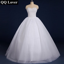 QQ Lover 2017 Robe De Mariage Princess Bling Luxury Crystals White Wedding Dress With Real Picture Custom Made Vestido De Noiva