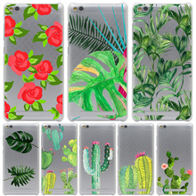 Plants Cactus Banana Leaves Cover Case for Xiaomi Redmi Note 2 3 4 Pro Prime 4A 4X 3S Mi 5 5S 6 Plus mi6 mi5 S mi5s  Cases