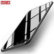 Msvii Case iPhone X Capa Coque Case iPhone 7 7Plus 8 8plus Tempered Glass Back Cover iPhone 6 6s 7 8 Plus Phone Case
