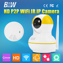 GSM Wireless WiFi Camara IP HD 720P P2P P/T Network Smoke Detector CMOS Baby Monitor Night Vision Surveillance Security CCTV