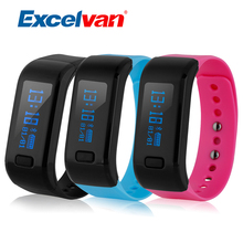 Excelvan Moving Up Waterproof Fitness Moniter Smart Bracelet Sport Bluetooth Wristband Pedometer Sleep Tracker For IOS Android(China)