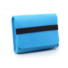 USB Cable Power Bank Felt Storage Bag For Phone Travel Digital Accessories Felt Storage Phone Charging Bag Cover Protector Case