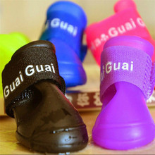 Free ShippingColorful Dog Pet Boots Rubber Water Protective Pet Shoes Booties Waterproof Rain K033