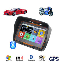TOPSOURCE 256M RAM 8GB Flash 4.3 Inch Car Motor Navigator GPS Motr  Motorcycle Waterproof gps Navigation with FM Bluetooth Maps!