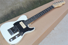 Factory Custom White Children Electric Guitar with Rosewood Fretboard,Black Pickguard,Chrome Hardware,Offer Customized
