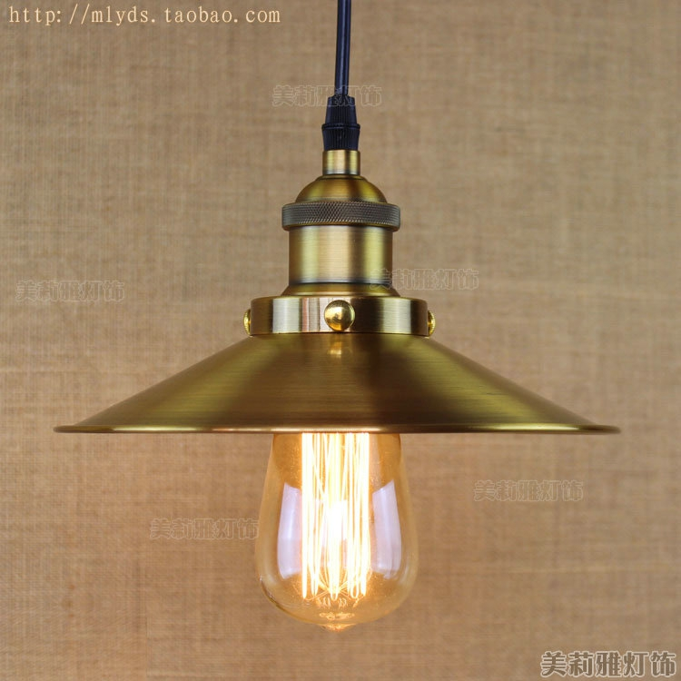 Retro Loft Style Vintage Industrial Lighting Edison Pendant Light Fixtures Golden Lampshade Lampen Nordic Style<br>