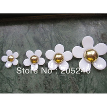 20pcs/Lot Cabochons Botoes Flat Back Resin Flowers For DIY Phone Decoration (4 sizes mixed, 40mm,30mm,25mm,20mm)