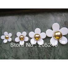 20pcs/Lot Cabochons Botoes Flat Back Resin Flowers For DIY Phone Decoration (4 sizes mixed, 40mm,30mm,25mm,20mm)(China)