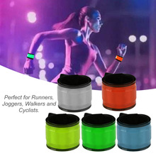 Men Women Running Arm Warmers LED Night Running Jogging Light Wrist Band Bracelet Dark Safety Party Decoration Arm Band Belt PVC(China)