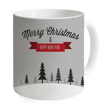 2017 Gift Creative Grey Merry Christmas Tree Ceramic Coffee Mugs Water Cups Mugs Milk Tea Cup Coffee Mug Home Custom Printed Mug(China)
