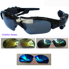 Three sets of bluetooth glasses lens Wireless Bluetooth 4.1 Headset Telephone Driving Sunglasses/mp3 Eyes Glasses Bluetooth