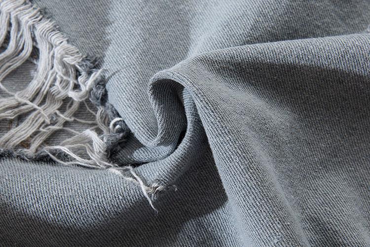 Camouflage Patchwork Ripped Denim Jacket 10