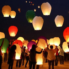 5Pcs/Lot Paper Chinese Lantern Balloons Flying Wishing Lamps Hot Air Balloon Fire Sky Lantern for Birthday Wedding Party Decor