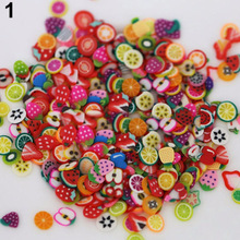 1000PCS Mixed Style Fimo Slice Fruit Nail Art 3D Fruit Fimo Slices Polymer Clay DIY Slice Decoration Nail Sticker