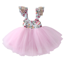 Fancy Newborn Kids Baby Girls Clothes Floral Tulle Dress Party Wedding Dresses baby girl dress Christmas Gift