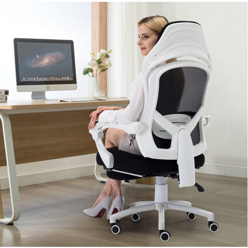 Computer chair e-sports office chair home leisure comfortable can lie down on the students write lift turn sedentary chair(China)