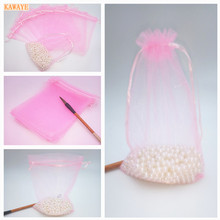 50pcs 10cmX15cm 20 Color Christmas Gift Candy Bag Baby Bath KAWAYE Wedding Gift Bag Jewelry Bag Party Decorations 6ZDZ32(China)