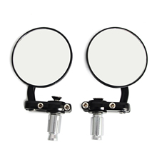 "Buy Motorcycle Black 7/8"" Round Bar End Rear Mirrors Moto Motorcycle Motorbike Scooters Rearview Mirror Side View Mirrors Cafe Racer for $11.82 in AliExpress store"
