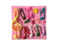 Beautiful And Classics Different Music Note Shape Silicone Fondant Cake Lace Mold Cake Mould, Bakeware F993 FFS