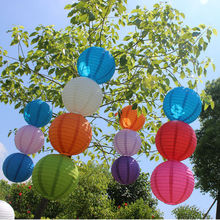 10pcs/lot 10inch 25cm lantern Standard color paper lantern Holiday celebration decoration wedding supplies Party decor Balloon(China)