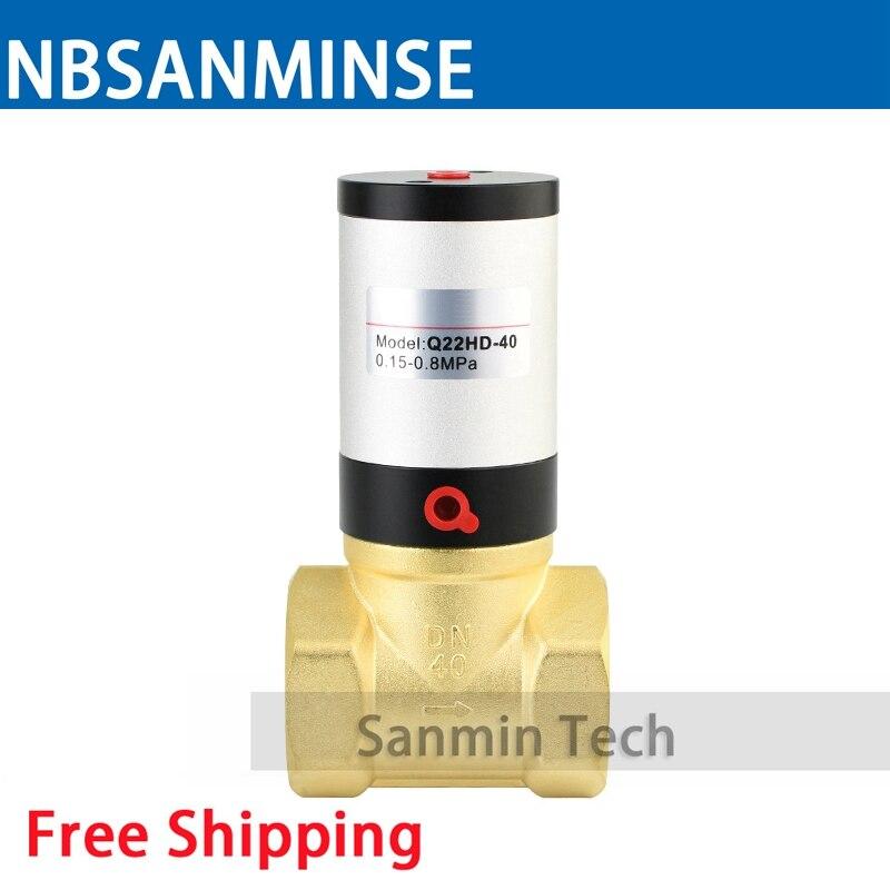 NBSANMINSE Q22HD Series Pneumatic Control Valve High Sealing Performance Brass Material High Quality <br>