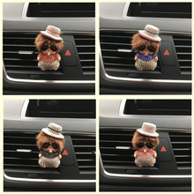 Super cute Qiqi dolls Automobile styling perfume ornaments Colorful diamond KIKI Auto air conditioner lady perfume Air Freshener