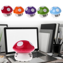 Cute Mushroom Mini Corner Desk Table Dust Vacuum Cleaner Sweeper for Home Office(China)
