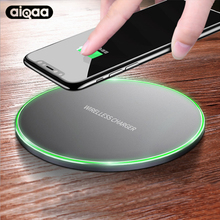 Aiqaa 10W Qi Wireless Charger For iPhone 8/X Fast Wireless Charging for Samsung S8/S8+/S7 Edge Nexus5 Lumia 820 USB Charger Pad(China)