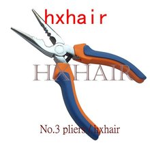 No.3 Multi-Function Hair Extension Pliers / Straight Head with Teeth and Holes / Hair Extension Tools(China)