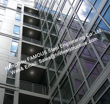 Structural Prefabricated Modular Panel Glass Facade Curtain Wall Rainscreen Systems