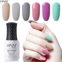 HNM Light Color 8ML Gel Polish Semi Permanent LED UV Gel Nail Polish Hybrid Lacquer Varnish Paint Gellak Lucky Stamping Enamel(China)