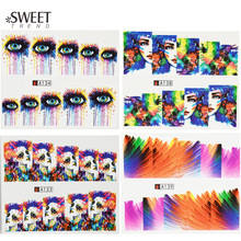 1 Sheets Fashion Cool Full Wraps Beauty Manicure Decor Nail Art Water Transfer Stickers Polish Watermark Nail Decals LAA133-144(China)