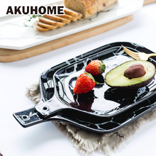 European Marble Tableware Ceramic Tableware Dish Face Plate Platter Bow Cutter Board(China)
