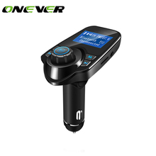 Car Mp3 Player Wireless Bluetooth Fm Transmitter FM Modulator HandsFree Car Kit A2DP 5V 2.1A USB Charger for iPhone Samsung T11(China)