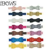 14 Colors New Cute Newburn Kids Glitter Bows Headband Stretch Hair Bands Accessories 3Pcs/Lot
