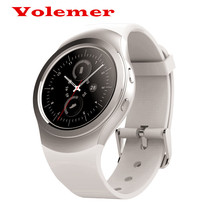 Volemer AS2/S2 Bluetooth 3.0/4.0 Smart Watch Life Waterproof 1.3 inch Round Screen Pushing Message Heart Rate Monitor for OS/IOS(China)