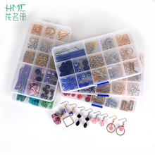 DIY Beads Kits set mobile strarp charms Dangle Earring Hook & Clasps Settings Ear Post Earring Findings for DIY Jewelry Making(China)