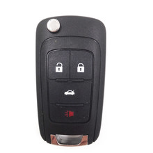 4 Buttons Keyless Flip Folding Remote Key Case 315MHZ for Chevrolet Malibu with 46 Electronic Chip & Logo