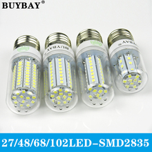 AC220V LED Lamp E27 SMD2835 LED Corn Light e27 LED Bulb 230V High Lumen 2835 SMD 27/48/68/102LED Chandelier Lampada 10pcs/lot