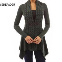 New Autumn Winter Casual Cardigan Women Knitted Sweater Irregular Cotton Linen V-neck Long Sleeve Button Plus Size S -5XL C50
