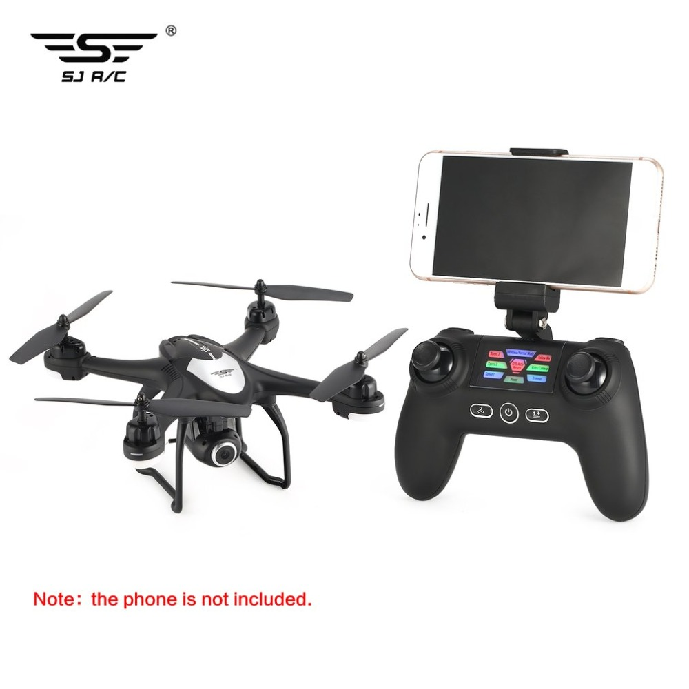 SJ R/C S30W 2.4G Dual GPS Positioning FPV RC Quadcopter Drone with 7P Adjustable Wide Angle Wifi Camera Follow Me Hovering 12