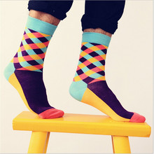 Colour men/women crew cotton socks of happy sock casual harajuku pattern skate designer brand fashion novelty art cool summer