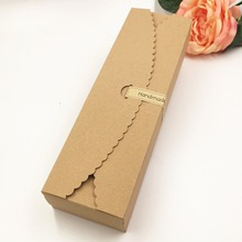 20pcs/lot 23*7*4cm Brown white Carton Kraft Box Wedding Gift Candy Boxes Soap Packaging Jewellry Packing Box(China)