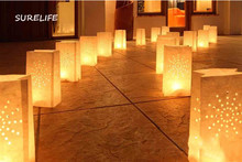 50Pcs Festival Lantern Paper Lantern Candle Bag Outdoor Lighting Candles for Wedding Decorations Event Pary Supplies 4 Patterns