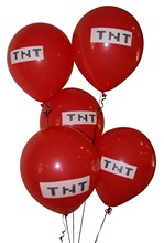 Minecraft Pixelated Red TNT Balloon Latex Party Balloons - 50 Count(China)