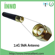 10pcs/lot 2.4GHz antenna SMA Male connector 2dbi wifi antenna rubber Zigbee antenna short 5cm