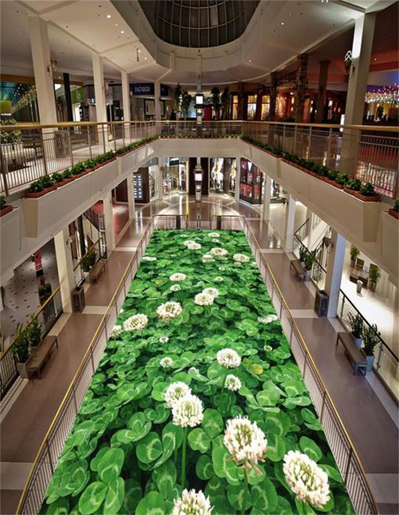 3d pvc flooring custom photo mural picture wall sticker 3d Grass clover floor painting room wallpaper for walls 3d<br><br>Aliexpress
